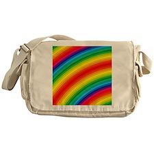 Rainbow Striped Pattern Messenger Bag