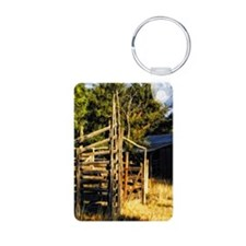 old west corral Keychains