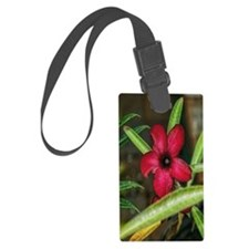 red flower Luggage Tag