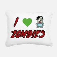 I heart Zombies Rectangular Canvas Pillow
