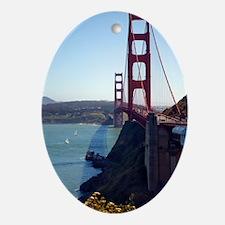 Golden Gate Bridge Oval Ornament