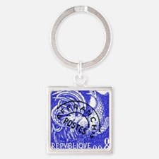 France 1957 Gallic Rooster Postage Square Keychain