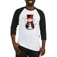 Red Snowman Baseball Jersey