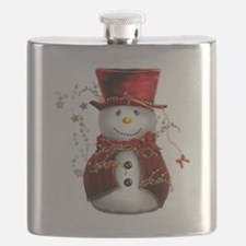 Red Snowman Flask