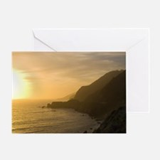 Sunset in Big Sur Greeting Card