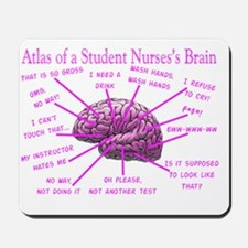 atlas student nurse brain PINK Mousepad