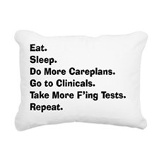 eat sleep student nurse  Rectangular Canvas Pillow