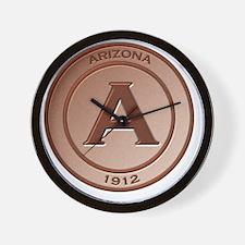 Copper Arizona 1912 Logo Wall Clock