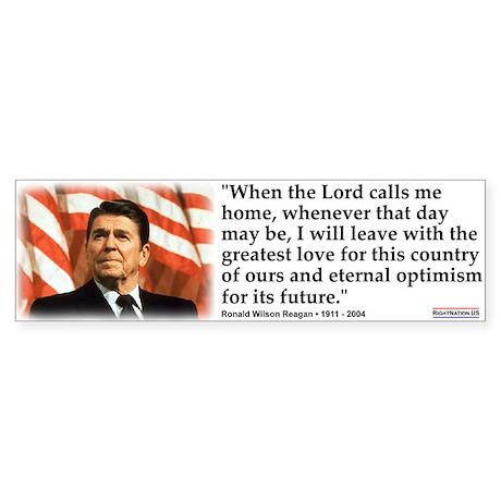 Ronald Reagan: When the Lord Sticker (Bumper)