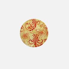 Vintage Floral Damasks Mini Button