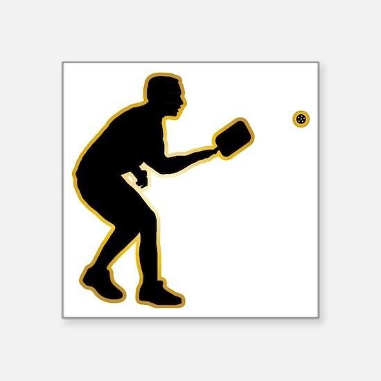 """Pickleball-AD Square Sticker 3"""" x 3"""""""
