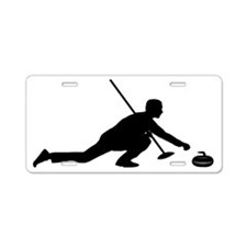 Curling-AA Aluminum License Plate