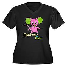 D-Lip Eistei Women's Plus Size Dark V-Neck T-Shirt