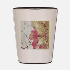 Long Pink Flower Shot Glass