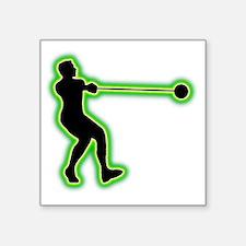 "Hammer-Throw-AC Square Sticker 3"" x 3"""