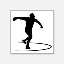 """Discus-Throwing-AA Square Sticker 3"""" x 3"""""""