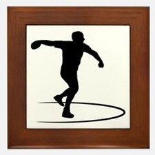Discus-Throwing-AA Framed Tile