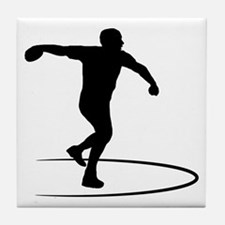 Discus-Throwing-AA Tile Coaster