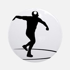 Discus-Throwing-AA Round Ornament