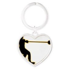Hammer-Throw-AD Heart Keychain