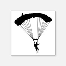 "Parachuting-AA Square Sticker 3"" x 3"""