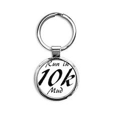 Run in mud 10k Round Keychain