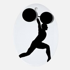 Weightlifting-AA Oval Ornament