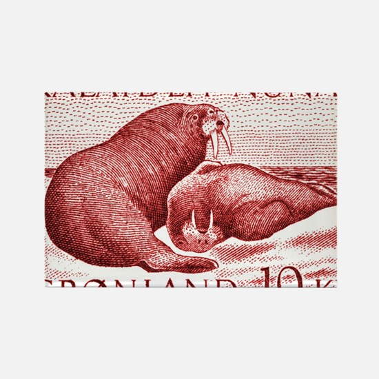 1973 Greenland Walrus Postage Sta Rectangle Magnet
