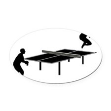 Ping-Pong-AA Oval Car Magnet