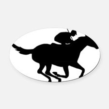 Horse-Racing-AA Oval Car Magnet