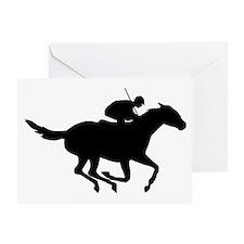 Horse-Racing-AA Greeting Card