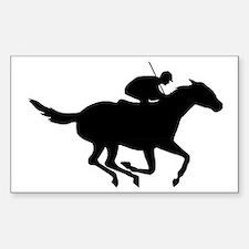 Horse-Racing-AA Sticker (Rectangle)