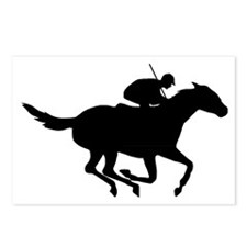 Horse-Racing-AA Postcards (Package of 8)