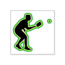 "Pickleball-AC Square Sticker 3"" x 3"""