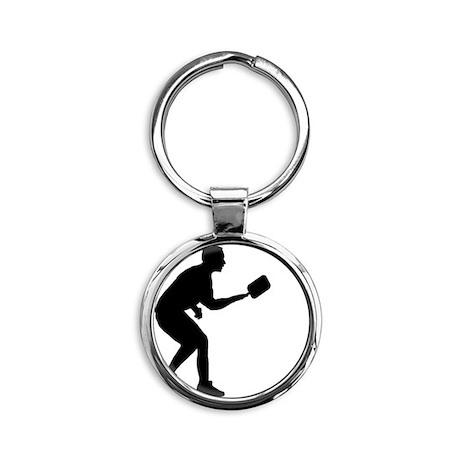 Pickleball-AA Round Keychain