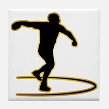 Discus-Throwing-AD Tile Coaster