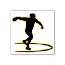 "Discus-Throwing-AD Square Sticker 3"" x 3"""