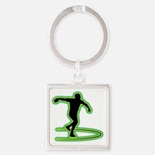 Discus-Throwing-AC Square Keychain