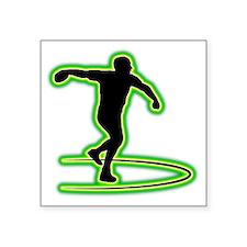 """Discus-Throwing-AC Square Sticker 3"""" x 3"""""""