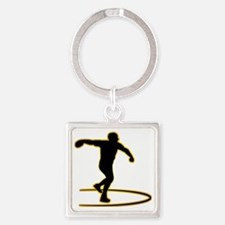Discus-Throwing-AD Square Keychain