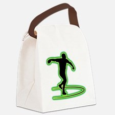 Discus-Throwing-AC Canvas Lunch Bag
