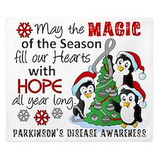 D Parkinsons Holiday Penguins King Duvet