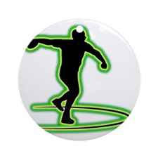 Discus-Throwing-AC Round Ornament