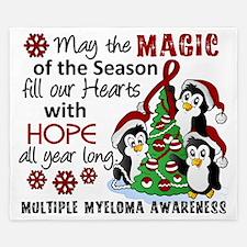 D Multiple Myeloma Christmas Penguins King Duvet