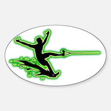 Waterskiing-AC Sticker (Oval)