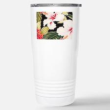 Black Retro Hawaii Hibi Travel Mug