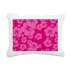 Pink Hibiscus License Pl Rectangular Canvas Pillow
