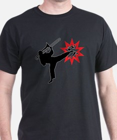 Karate and Music together in one imag T-Shirt