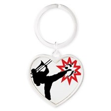 Karate and Music together in one im Heart Keychain
