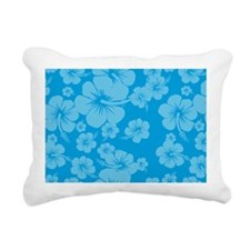 Blue Hibiscus License Pl Rectangular Canvas Pillow